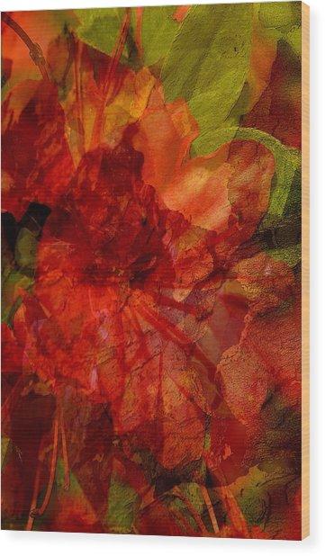 Blood Rose Wood Print