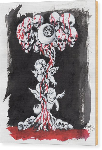 Bloody Angels Wood Print by Miguel Karlo Dominado