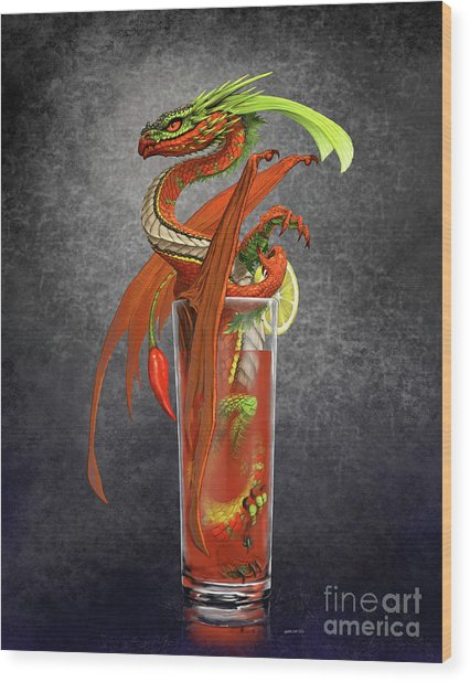 Bloody Mary Dragon Wood Print