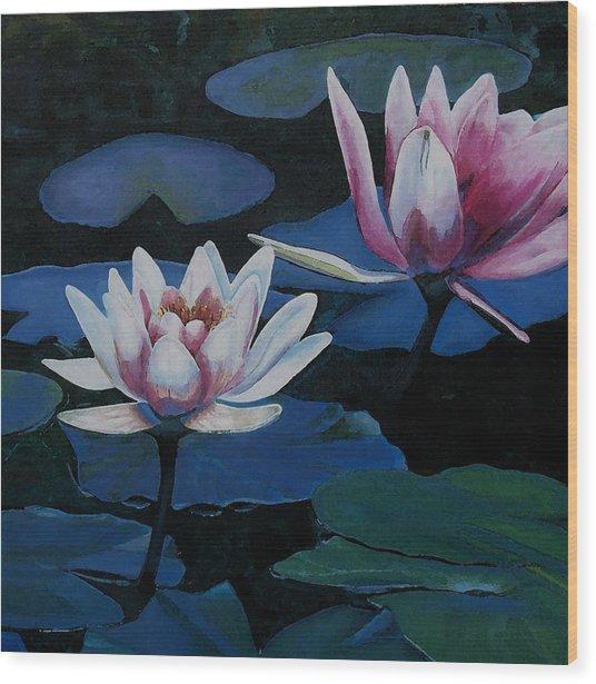 Bloom Moon Wood Print by Joan Cookson