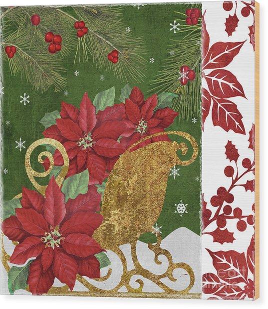 Blooming Christmas I Wood Print