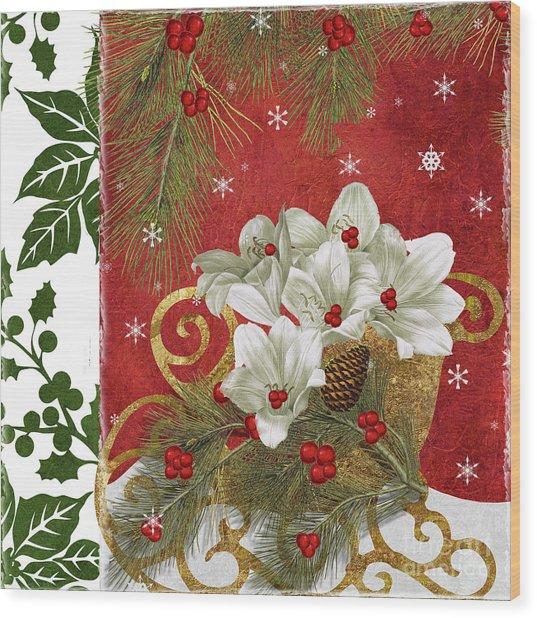 Blooming Christmas II Wood Print