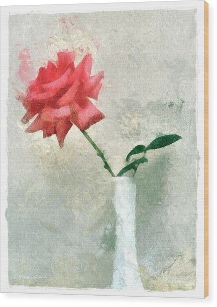 Blooming Rose Wood Print