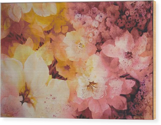 Blooms-of-summer Wood Print by Nancy Newman
