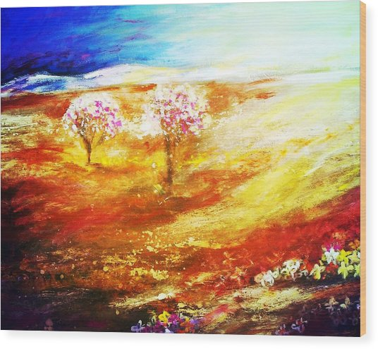 Blossom Dawn Wood Print