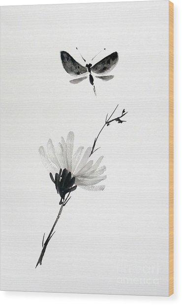 Blossomfly Wood Print