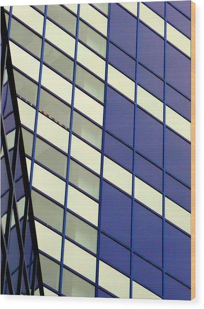 Blue 1114 Wood Print