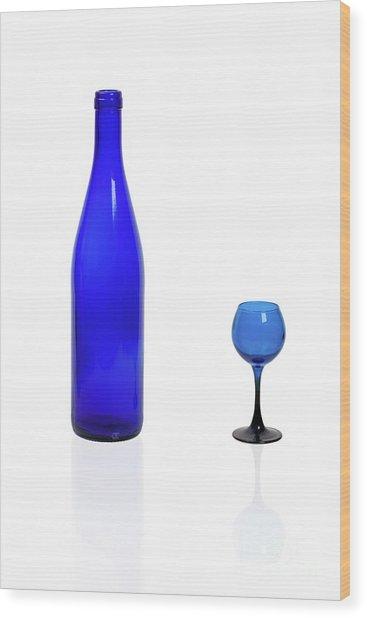 Blue  #2438 Wood Print