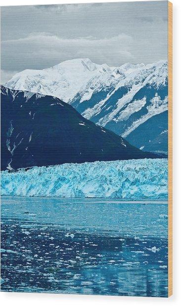 Blue Alaska Wood Print