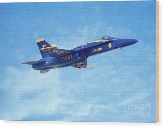 Blue Angel #5 In Arizona Wood Print