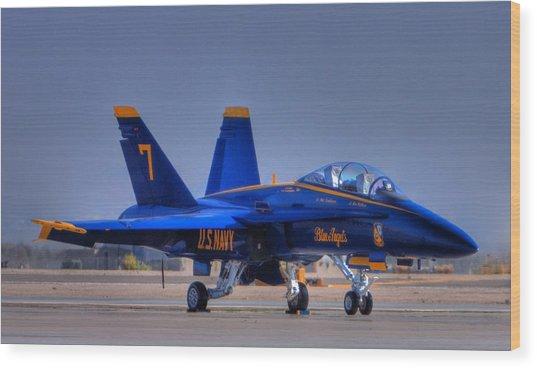 Blue Angel Number 7 Wood Print by Paul Owen