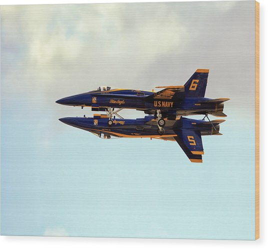 Wood Print featuring the photograph Blue Angels 1 by Gigi Ebert