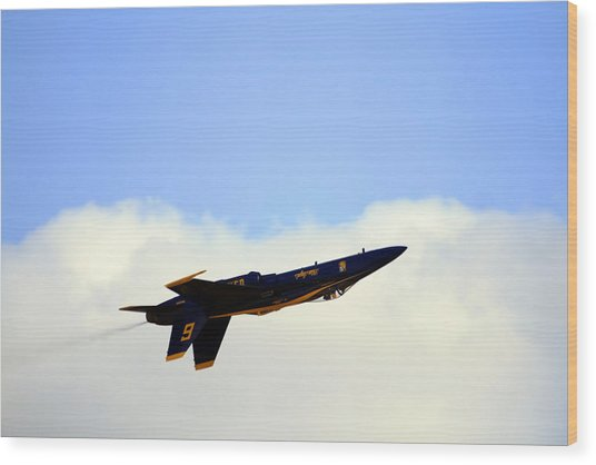 Wood Print featuring the photograph Blue Angels Maneuver by Gigi Ebert