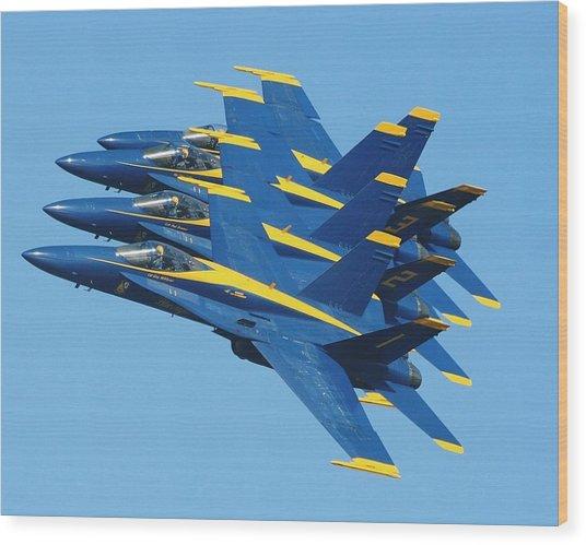 Blue Angels Wood Print by Melanie Beasley
