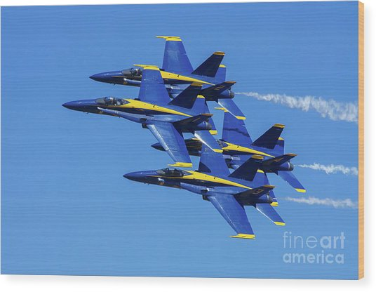 Blue Angels Very Close Formation 1 Wood Print