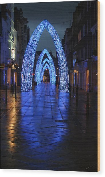 Blue Arch Wood Print by Jez C Self