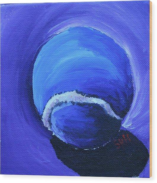 Blue Ball Wood Print