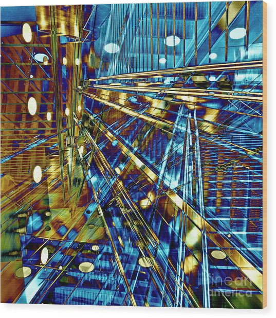 Blue Berlin Sound Wood Print