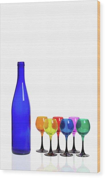 Blue Bottle #2429 Wood Print