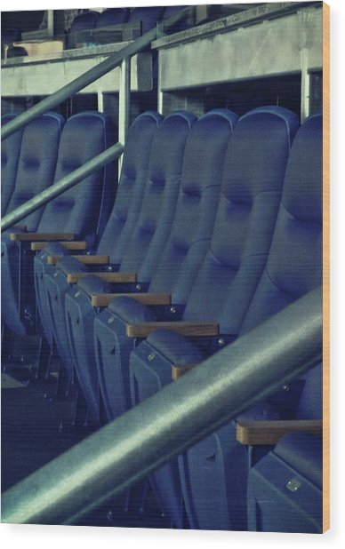 Blue Box Seats Wood Print by JAMART Photography