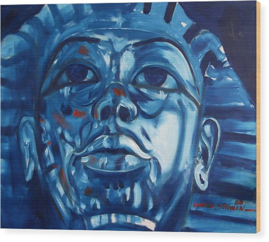 Blue Boy Wood Print by Howard Stroman