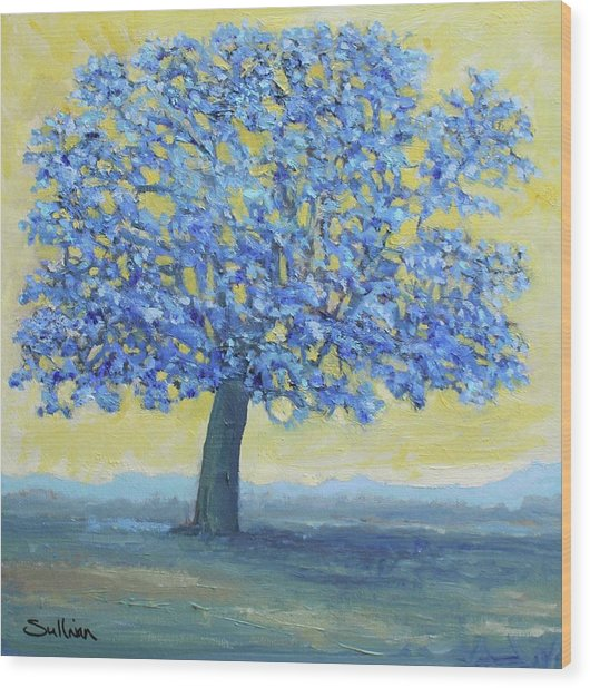 Blue Breeze Wood Print
