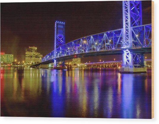 Blue Bridge 2 Wood Print
