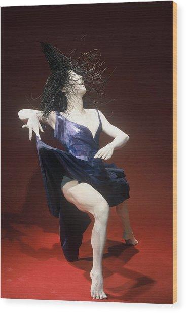 Blue Dancer Right View Wood Print by Gordon Becker