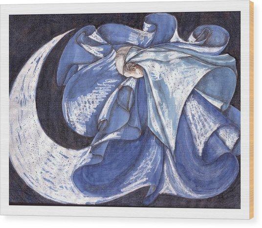Blue Derwish Wood Print by Amrei Al-Tobaishi-Jarosch