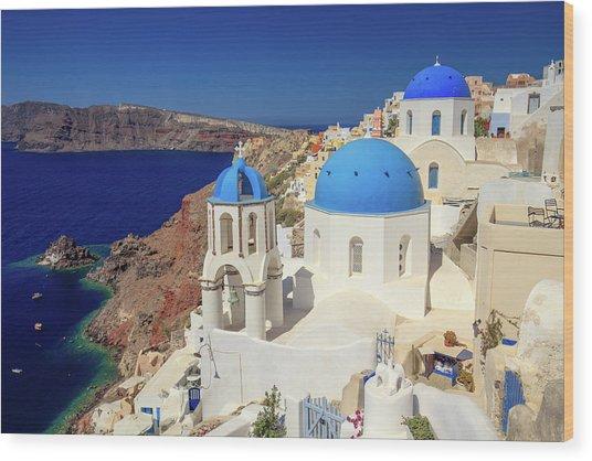 Blue Domed Churches Wood Print