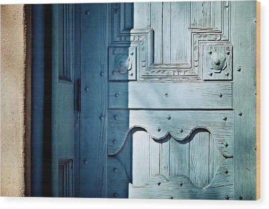 Blue Door Wood Print by Humboldt Street