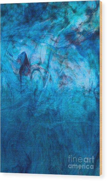 Blue Dream Wood Print