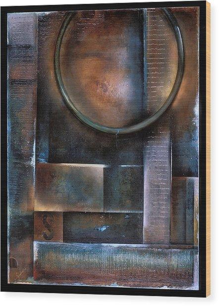 Blue Drop Wood Print by Stephen Schubert
