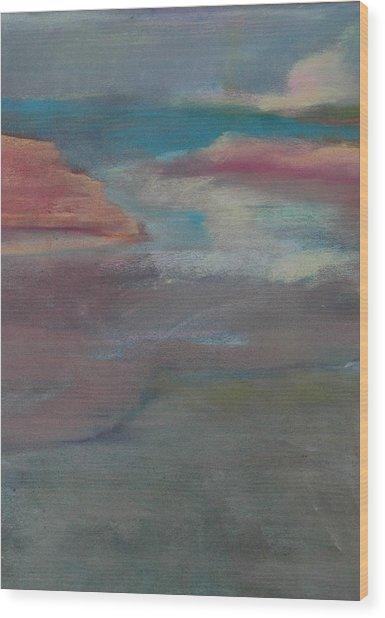 Blue Dune Wood Print
