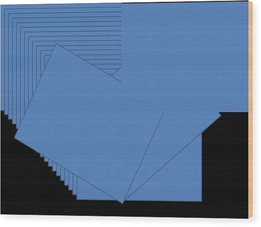Blue Wood Print by Edith Womack