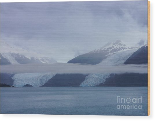 Blue Escape In Alaska Wood Print
