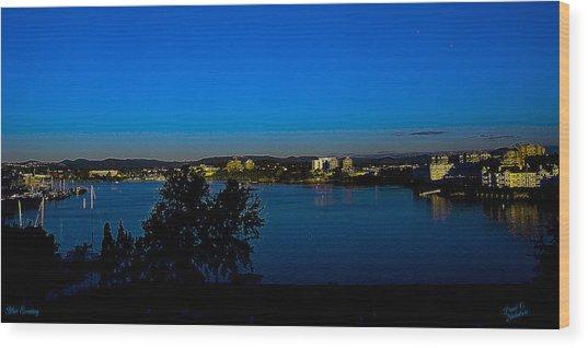 Blue Evening Wood Print by Diane C Nicholson