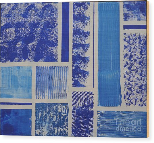 Blue Expo Wood Print