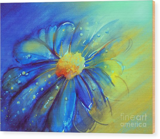Blue Flower Offering Wood Print
