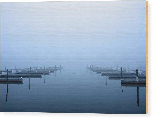 Blue Fog Wood Print