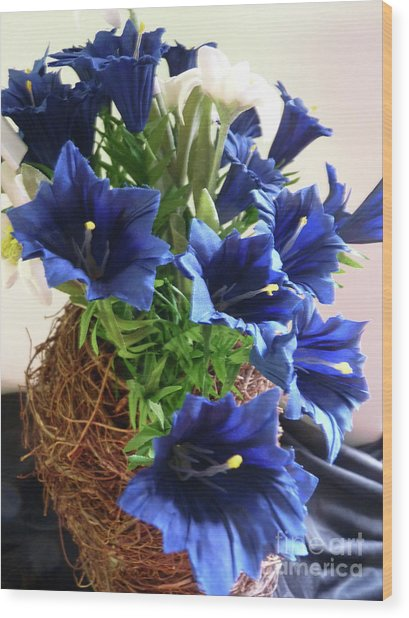 Blue Gentian  Wood Print