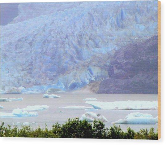 Blue Glacier Wood Print