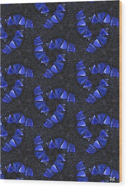 Blue Glass  Wood Print