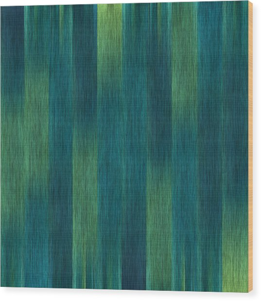 Blue Green Abstract 1 Wood Print