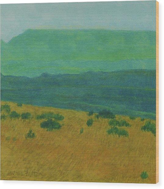 Blue-green Dakota Dream, 1 Wood Print