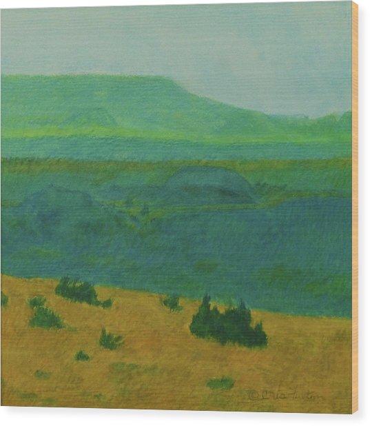 Blue-green Dakota Dream, 2 Wood Print