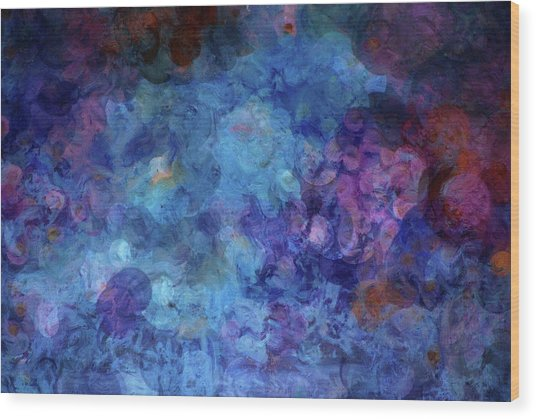 Blue Grotto Painting  Wood Print