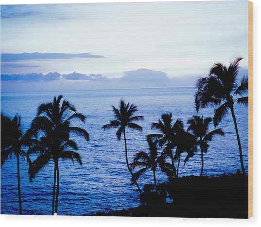 Blue Hawaii Wood Print