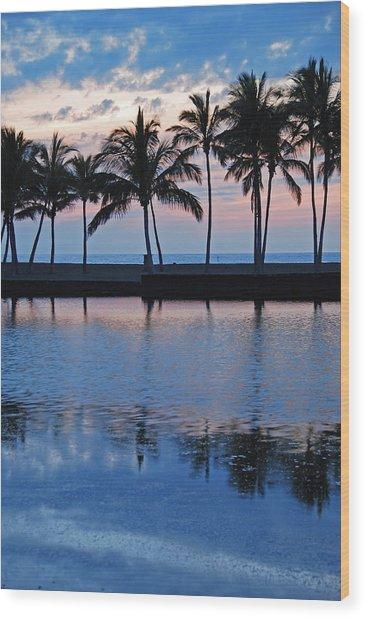 Blue Hawaiian Wood Print