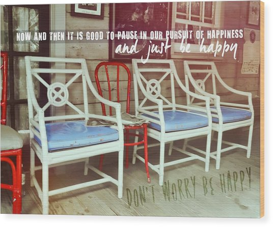 Blue Heaven Quote Wood Print by JAMART Photography